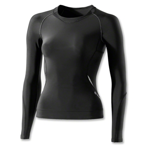 Skins A400 Long Sleeve Women's Top (Blk/Grey)