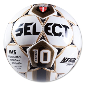 Select Numero 10 Soccer Ball (White/Gold)