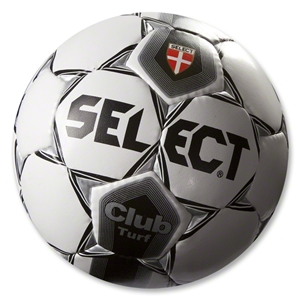 Select Club Turf Soccer Ball (White/Black/Silver)