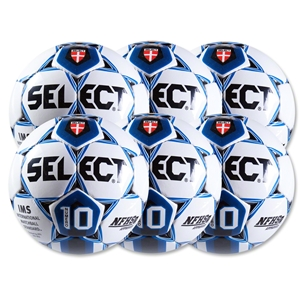Select Numero 10 Ball-6 Pack-White/Royal (Wh/Ro)