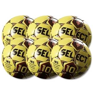 Select Numero 10 Ball-6 Pack-White/Red (Yl/Sc)