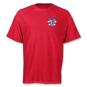 adidas USA Sevens Climalite T-Shirt (Red)