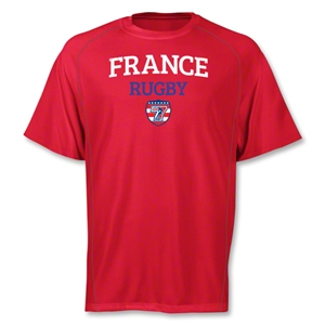 adidas USA Sevens France Climalite T-Shirt (Red)