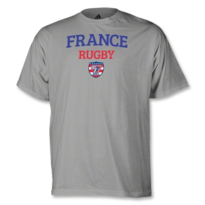 adidas USA Sevens France Rugby T-Shirt (Gray)