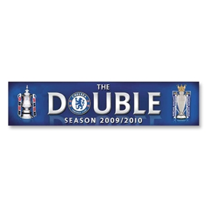 Chelsea 09/10 Double Winners Car Sticker