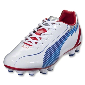 PUMA evoSpeed 4 FG (White/Limoges/Ribbon Red)