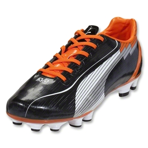 PUMA evoSpeed 4 FG (Black/White/Team Orange)