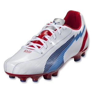 PUMA evoSpeed 5 FG (White/Limoges/Ribbon Red)