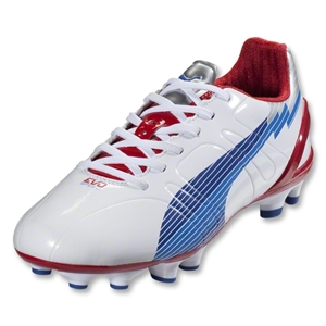 PUMA Women's evoSpeed 3 FG (White/Limoges/Ribbon Red)