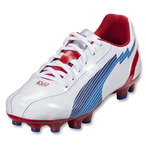 PUMA evoSpeed 5 FG Junior (White/Limoges/Ribbon Red)
