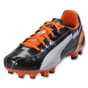 PUMA evoSpeed 5 FG Junior (Black/White/Team Orange)
