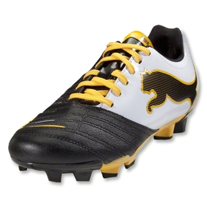 PUMA PowerCat 3.12 FG Junior (Black/White/Team Yellow)