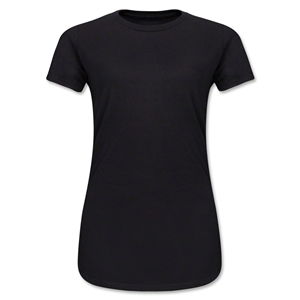 Junior Ladies 4.3 Oz Cotton T-Shirt (Black)
