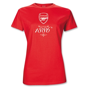 Arsenal Junior Women's Red Gunners T-Shirt (Red)