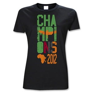 Zambia 2012 Champions of Africa Women's T-Shirt (Black)