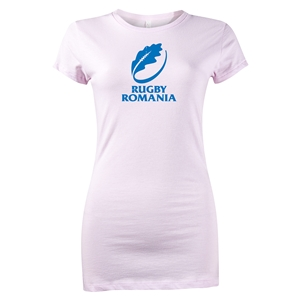 Rugby Romania Junior Women's SS T-Shirt (Pink)