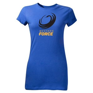 Western Force Junior Women's SS Rugby T-Shirt (Royal)