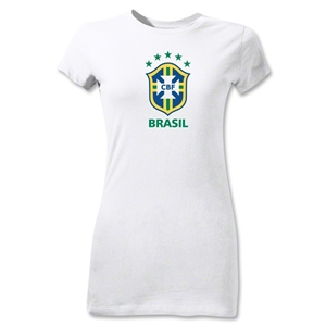 Brazil Junior Women's T-Shirt (White)