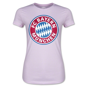 Bayern Munich Logo Junior Women's T-Shirt (Pink)