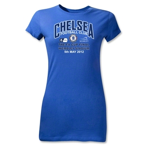 Chelsea FA Cup Final Junior Women's T-Shirt (Royal)