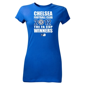Chelsea 2012 FA Cup Winners Junior Women's T-Shirt (Royal)