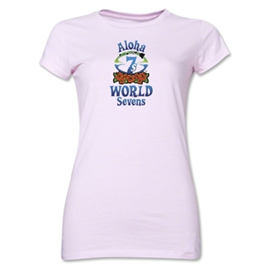 Aloha World Sevens Junior Women's T-Shirt (Pink)