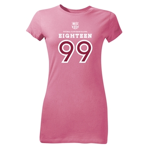 FC Barcelona Eighteen 99 Junior Women's T-Shirt (Pink)
