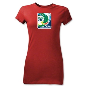 FIFA Confederations Cup 2013 Junior Women's Emblem T-Shirt (Red)