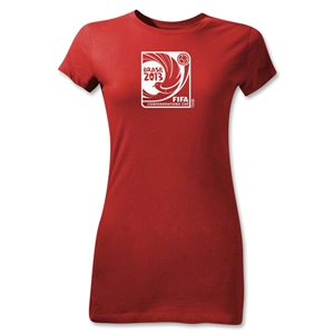 FIFA Confederations Cup 2013 Junior Women's Event Emblem T-Shirt (Red)