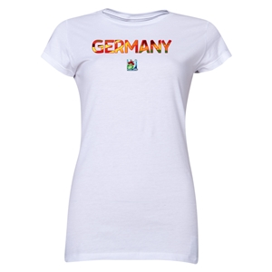 Germany FIFA U-20 Women's World Cup Canada 2014 Junior Women's Core T-Shirt (White)