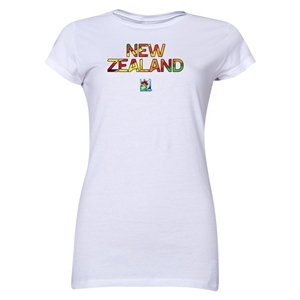 New Zealand FIFA U-20 Women's World Cup Canada 2014 Junior Women's Core T-Shirt (White)