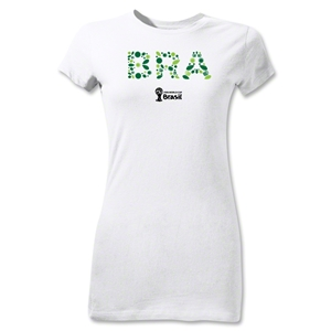 Brazil 2014 FIFA World Cup Brazil(TM) Junior Women's Elements T-Shirt (White)