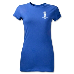 2014 FIFA World Cup Brazil(TM) Junior Women's Emblem T-Shirt (Royal)