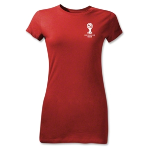 2014 FIFA World Cup Brazil(TM) Junior Women's Emblem T-Shirt (Red)