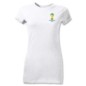 2014 FIFA World Cup Brazil(TM) Junior Women's Emblem T-Shirt (White)