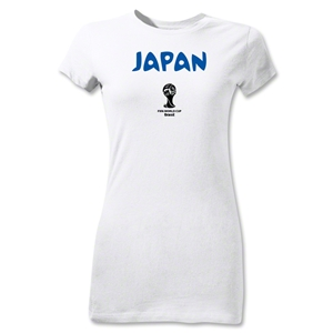 Japan 2014 FIFA World Cup Brazil(TM) Junior Women's Core T-Shirt (White)