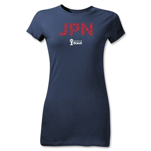 Japan 2014 FIFA World Cup Brazil(TM) Junior Women's T-Shirt (Navy)