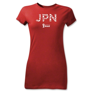 Japan 2014 FIFA World Cup Brazil(TM) Junior Women's T-Shirt (Red)