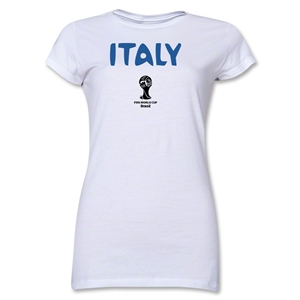Italy 2014 FIFA World Cup Brazil(TM) Jr Women's Core T-Shirt (White)