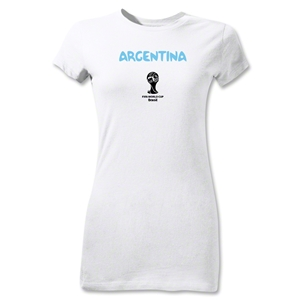 Argentina 2014 FIFA World Cup Brazil(TM) Jr Women's Core T-Shirt (White)