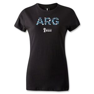 Argentina 2014 FIFA World Cup Brazil(TM) Jr Women's Elements T-Shirt (Black)