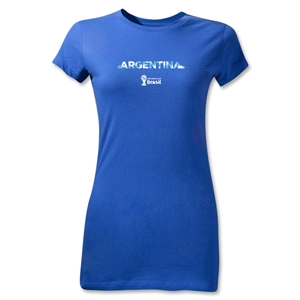 Argentina 2014 FIFA World Cup Brazil(TM) Jr Women's Palm T-Shirt (Royal)