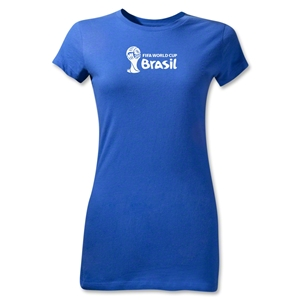 2014 FIFA World Cup Brazil(TM) Junior Women's Landscape T-Shirt (Royal)