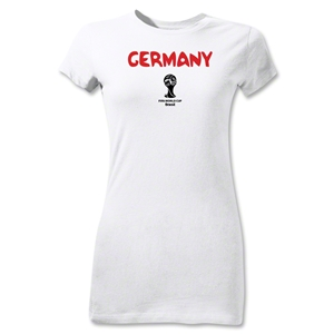 Germany 2014 FIFA World Cup Brazil(TM) Jr Women's Core T-Shirt (White)