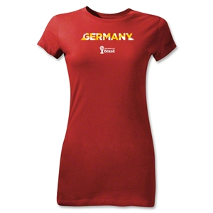 Germany 2014 FIFA World Cup Brazil(TM) Jr Women's Palm T-Shirt (Red)