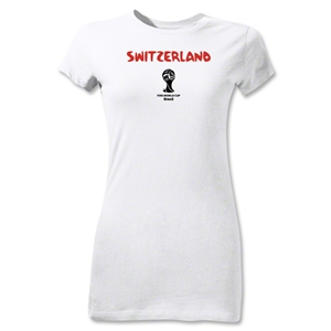 Switzerland 2014 FIFA World Cup Brazil(TM) Jr Women's Core T-Shirt (White)