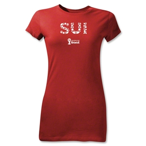 Switzerland 2014 FIFA World Cup Brazil(TM) Jr Women's Elements T-Shirt (Red)