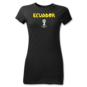Ecuador 2014 FIFA World Cup Brazil(TM) Jr Women's Core T-Shirt (Black)