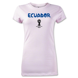 Ecuador 2014 FIFA World Cup Brazil(TM) Jr Women's Core T-Shirt (Pink)