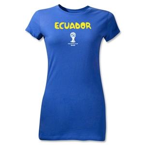 Ecuador 2014 FIFA World Cup Brazil(TM) Jr Women's Core T-Shirt (Royal)